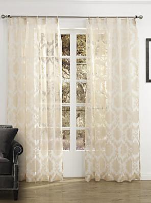 zwei Panele Window Treatment Rustikal Schlafzimmer Polyester Stoff Gardinen Shades Haus Dekoration For Fenster