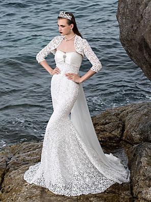 Lanting Bride® Mořská panna Drobná / Nadměrné velikosti Svatební šaty - Elegantní & moderní / Elegantní & luxusní / Okouzlující &