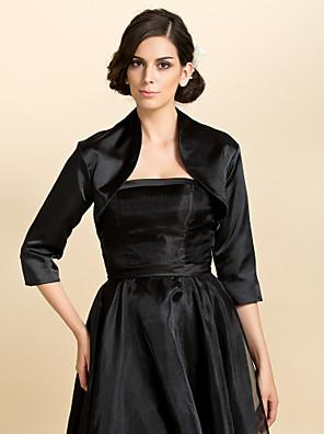 3/4 Sleeve Satin Wedding Evening Jackets (More Colors Available) Bolero Shrug