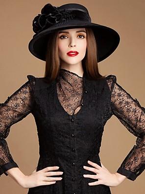 גבירותיי צמר עדינות חיצוני / סיבתי / כובעי אירוע / התחממות מיוחדות עם קטיפה משי זהב
