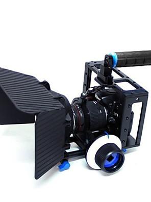 yelangu® alça superior gaiola câmera DSLR com matte box e siga concentrar para DSLR vídeo da câmara