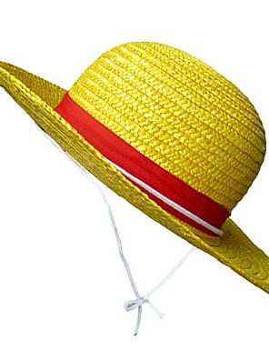Chapéu Inspirado por One Piece Monkey D. Luffy Anime Acessórios de Cosplay Chapéu Amarelo Palhinha Forma de Corda Masculino