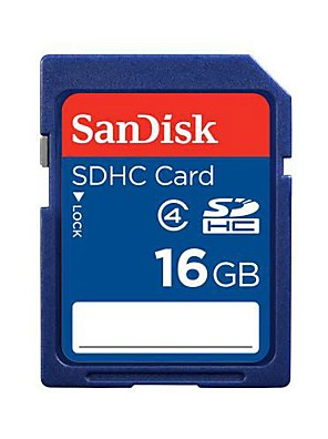SanDisk 16 GB. Class4 SDHC paměťové karty sdsdb-016g-Z35