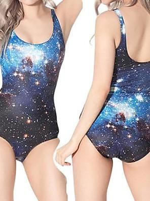 Painettu Galaxy One Piece elastaania Swim Suit