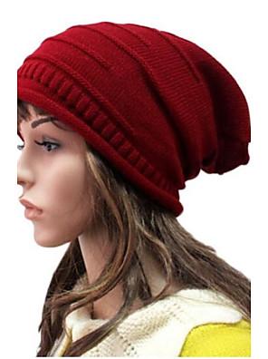 כובע צמר נשים יום יומי , סריגה חורף