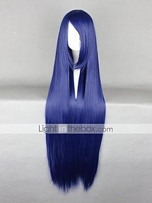 פאות קוספליי Naruto Hinata Hyuga כחול ארוך / ישר אנימה פאות קוספליי 100 CM סיבים עמידים לחום נקבה