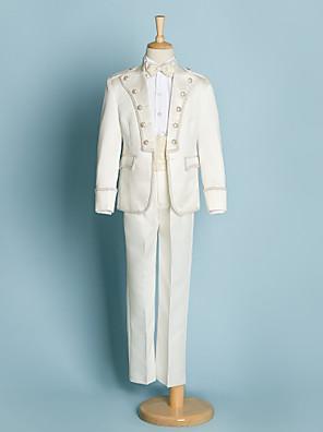 פוליאסטר חליפה לנושא הטבעת - 5 חתיכות כולל ג'קט / חולצה / מכנסיים / אבנט למותניים / עניבת פרפר