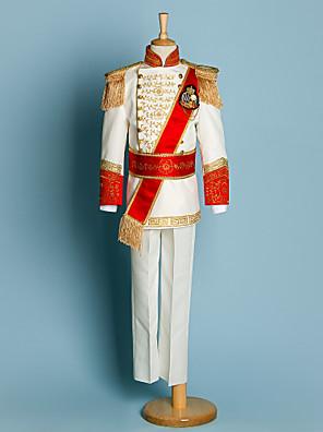 Polyester Oblek pro mládence - 5 Pieces Obsahuje sako / Tričko / Kalhoty / pas / Suspensory