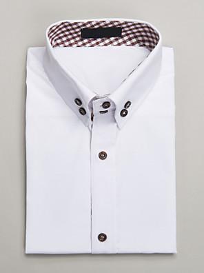 bílé bavlněné míru fit košile s krátkým rukávem