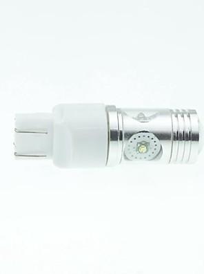 7443 w21 21w w3x16q cree xp-e levou 20w 1300-1600lm 6500-7500k ac / dc12v-24 por sua vez, luz -prata branco transparente