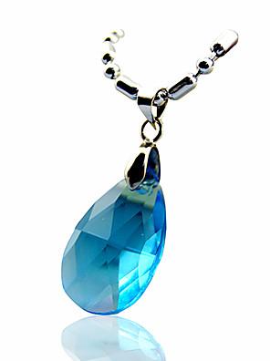 תכשיטים קיבל השראה מ Sword Art Online Asuna Yuuki אנימה אביזרי קוספליי שרשרת כחול אבני חן מלאכותיים נקבה