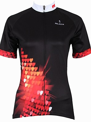 PALADIN® Camisa para Ciclismo Mulheres Manga Curta Moto Respirável / Secagem Rápida / Resistente Raios UltravioletaCamisa/Fietsshirt /