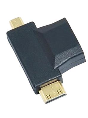 3-in-1 HDMI na Micro HDMI Mini HDMI adaptér Converter
