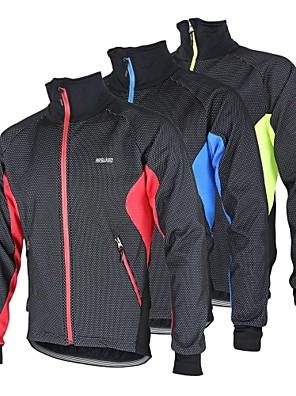 Arsuxeo® ג'קט לרכיבה לגברים שרוול ארוך אופניים נושם / שמור על חום הגוף / עמיד / עיצוב אנטומי / בטנת פליז / רצועות מחזירי אור / כיס אחורי
