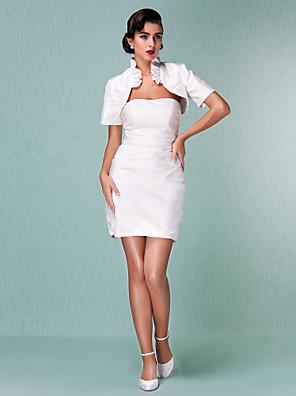 Lanting Bride® Pouzdrové Drobná / Nadměrné velikosti Svatební šaty - Klasické & nadčasové / Šaty na hostinuSvatební šaty s bolerkem /