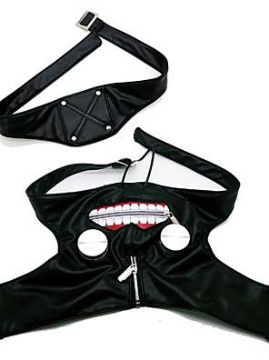 Maska Inspirovaný Tokyo Ghoul Cosplay Anime Cosplay Doplňky Maska Czarny PU kůže Pánský