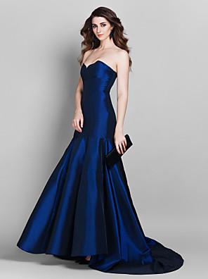 Evento Formal Vestido - Inspiración Vintage / Elegante Trompeta / Sirena Corazón Corte Tafetán con