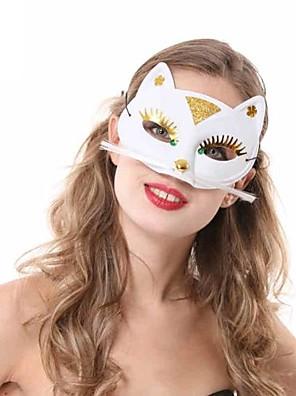 Máscara Fantasias Festival/Celebração Trajes da Noite das Bruxas Branco / Preto Cor Única Máscara Dia Das Bruxas Feminino PVC