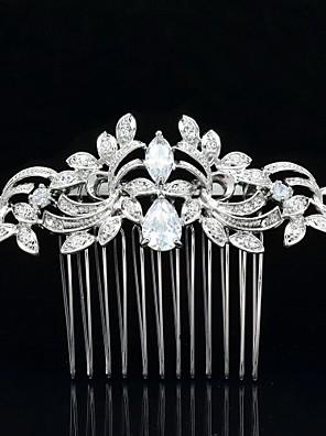 Jóia nupcial 8,5 centímetros Nobby headpieces pente de cabelo tiara do casamento para a festa