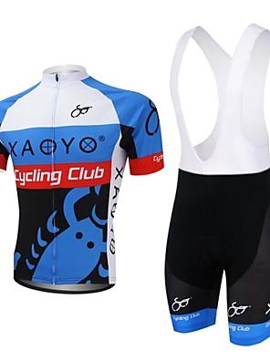 XAOYO® חולצת ג'רסי ומכנס קצר ביב לרכיבה לגברים שרוול קצר אופניים נושם / ייבוש מהיר / כיס אחורי מדים בסטים פוליאסטר / 100% פוליאסטר קיץ