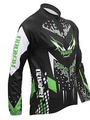 REALTOO® Jaqueta para Ciclismo Homens Manga Comprida Moto Respirável / Mantenha Quente / Forro de Velocino Camisa/Fietsshirt / Blusas