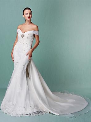 Lanting Bride® Sereia Pequeno / Tamanhos Grandes Vestido de Noiva - Clássico e atemporal / Elegante e LuxuosoVestidos de Casamento