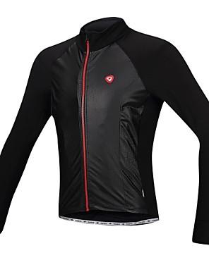 SANTIC® Jaqueta para Ciclismo Homens Manga Comprida Moto Impermeável / Mantenha Quente / A Prova de Vento / Forro de VelocinoJaqueta /