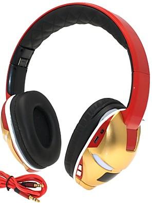 hi-fi slot iron man 3,5 mm tf karta skládací bass music stereofonní bezdrátová bluetooth sluchátka s mic tf fm pom