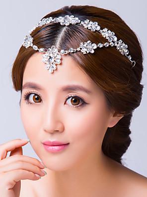 נשים סגסוגת / זירקונה מעוקבת כיסוי ראש-חתונה / אירוע מיוחד שרשרת ראש
