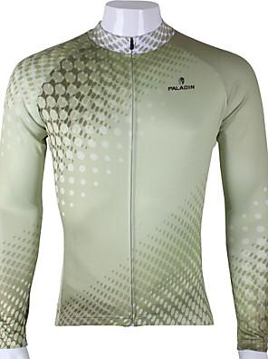 PALADIN® Cyklodres Pánské Dlouhé rukávy Jezdit na kole Prodyšné / Rychleschnoucí / Odolný vůči UV záření Dres / Vrchní část oděvu100%