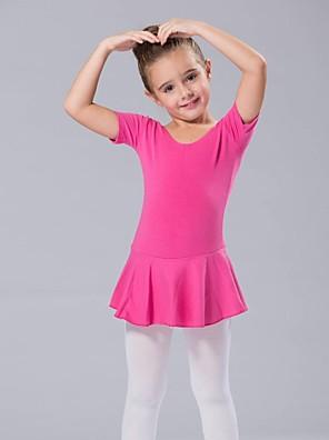 Roupas de Dança para Crianças Vestidos Mulheres / Crianças Elastano Manga Curta 110:50,120:53,130:56,140:59,150:61,160:64,170:67,180:70