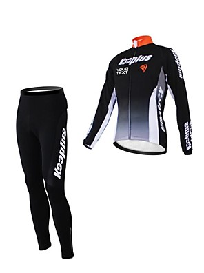 KOOPLUS® Calça com Camisa para Ciclismo Mulheres / Homens / Unissexo Manga Comprida MotoRespirável / Zíper á Prova-de-Água / Vestível /