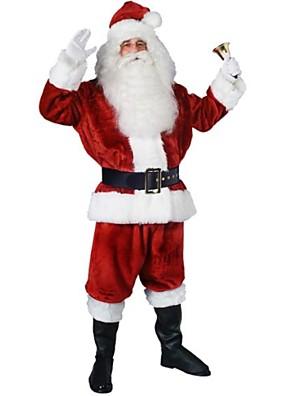 Cosplay Kostýmy / Kostým na Večírek Vánoční santa obleky Festival/Svátek Halloweenské kostýmy Červená PatchworkKabát / Kalhoty / Rukavice