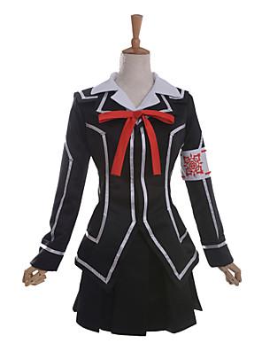 Inspirovaný Vampire Knight Yuki Kuran Anime Cosplay kostýmy Cosplay šaty / Školní uniformy Patchwork Czarny Dlouhé rukávyKabát / Tričko /