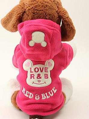 כלבים קפוצ'ונים Black / ורד בגדים לכלבים חורף / קיץ/אביב אנימציה חמוד / Keep Warm