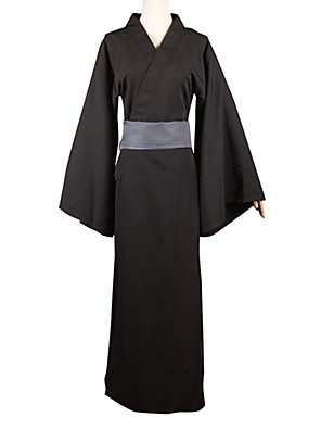 Inspirovaný Noragami yato Anime Cosplay kostýmy Cosplay šaty Patchwork Czarny Dlouhé rukávy Yukata / Pásek