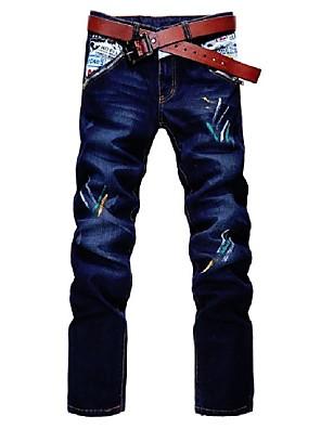 Moda slim jeans homens