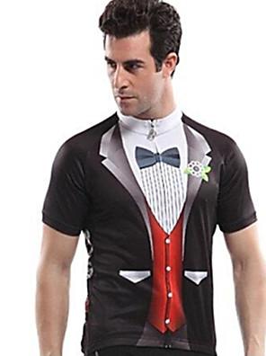 VEOBIKE® חולצת ג'רסי לרכיבה לגברים שרוול קצר אופניים עמיד אולטרה סגול / חדירות ללחות / רוכסן קדמי / עמיד לאבק ג'רזי / צמרותידידותי לסביבה