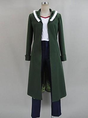 Inspirovaný Akame Ga zabít! Cosplay Anime Cosplay kostýmy Cosplay šaty Patchwork Zielony Dlouhé rukávyKabát / Trička / Kalhoty / Vlasové