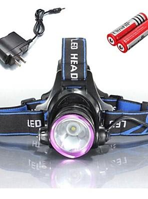 Iluminação Lanternas de Cabeça / Luzes de Bicicleta LED 2000 Lumens 3 Modo Cree XM-L T6 18650.0 / 18355Prova-de-Água / Recarregável /