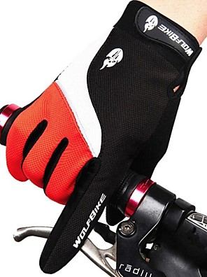 WEST אופניים® כפפות ספורט/ פעילות לגברים / כל כפפות רכיבה סתיו / חורף כפפות אופנייםשמור על חום הגוף / נגד החלקה / עמיד למים / נושם / עמיד