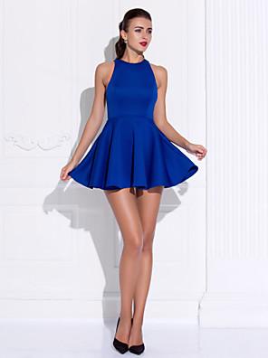 ts couture® cocktail party / prom jurk plus size / tenger a-lijn / prinses juweel korte / mini jersey met