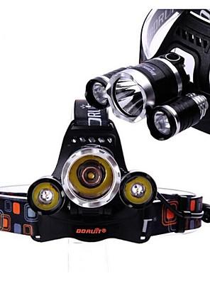 boruit 3x Cree XM-L T6 vedl 5800lm světlometů světlometů pochodeň napájen 2ks 18650 bateriemi
