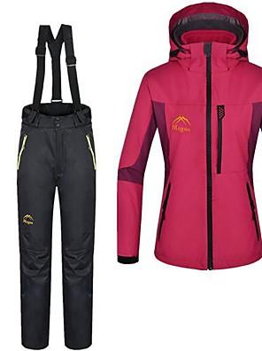 לנשים מכנסיים / מעילי 3 ב 1 / ז'קטים לנשים / ז'קטים לחורף / מדים בסטים סקי / מחנאות וטיולים עמיד למים / שמור על חום הגוף חורף אדוםS / M /