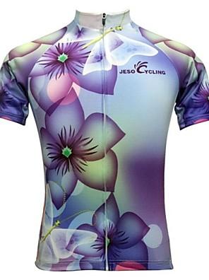 JESOCYCLING® חולצת ג'רסי לרכיבה לנשים שרוול קצר אופניים נושם / ייבוש מהיר / חדירות ללחות / כיס אחורי / תומך זיעה ג'רזי / צמרות100%