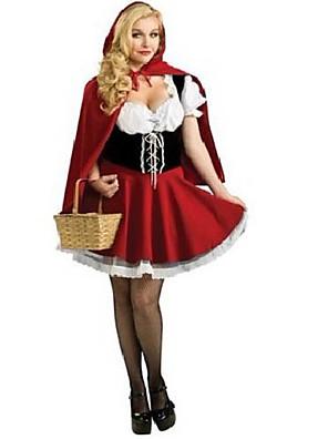 Cosplay Kostýmy / Kostým na Večírek Pohádkové Festival/Svátek Halloweenské kostýmy Červená Patchwork Šaty / Přehoz Halloween / Karneval