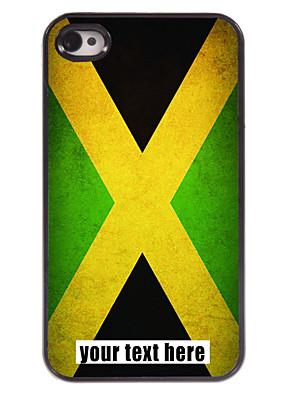 מקרה דגל מותאם אישית של מקרה עיצוב מתכת ג'מייקה עבור 4 / 4S iPhone