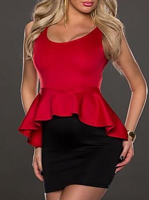 dámské hluboko u mini šaty, lycra červená sexy