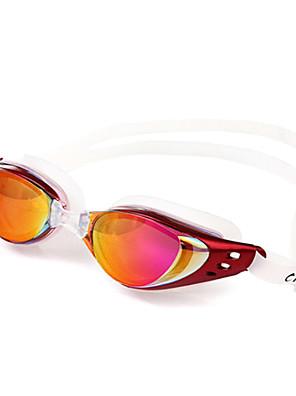 svømmebriller Unisex Anti-Tåge / Vandtæt / Anti-UV Silika Gele PC Sølv / Rød / Sort / Orange Rød / Grå / Sort / Orange / Sølv