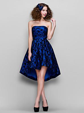 TS couture® 파티 / 기업 파티 드레스 - 1950 플러스 크기가 / 라인을 레이스 끈 비대칭 레이스 몸집이 작은